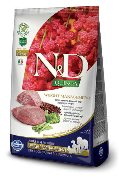 N&D GF Quinoa DOG Weight Mnmgnt Lamb & Broccoli