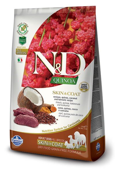N&D GF Quinoa DOG Skin&Coat Venison & Coconut