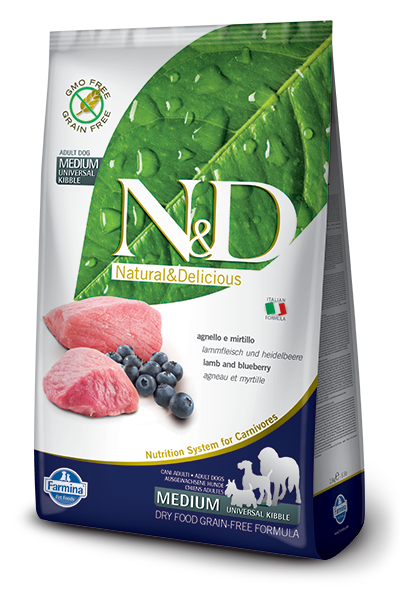 N&D GF DOG Adult Lamb & Blueberry- od 2,5 kg