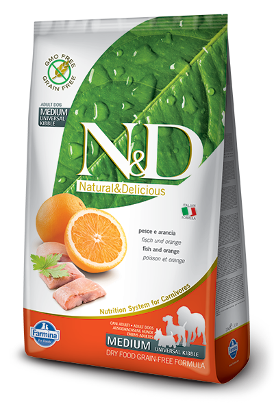 N&D GF DOG Adult Fish & Orange - od 800g
