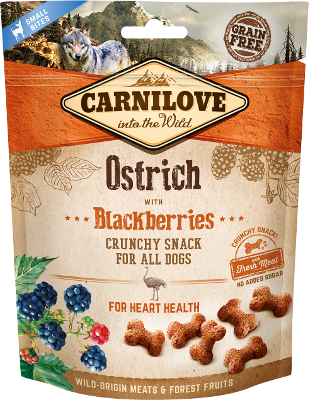 Carnilove Crunchy Ostrich with Blackberries