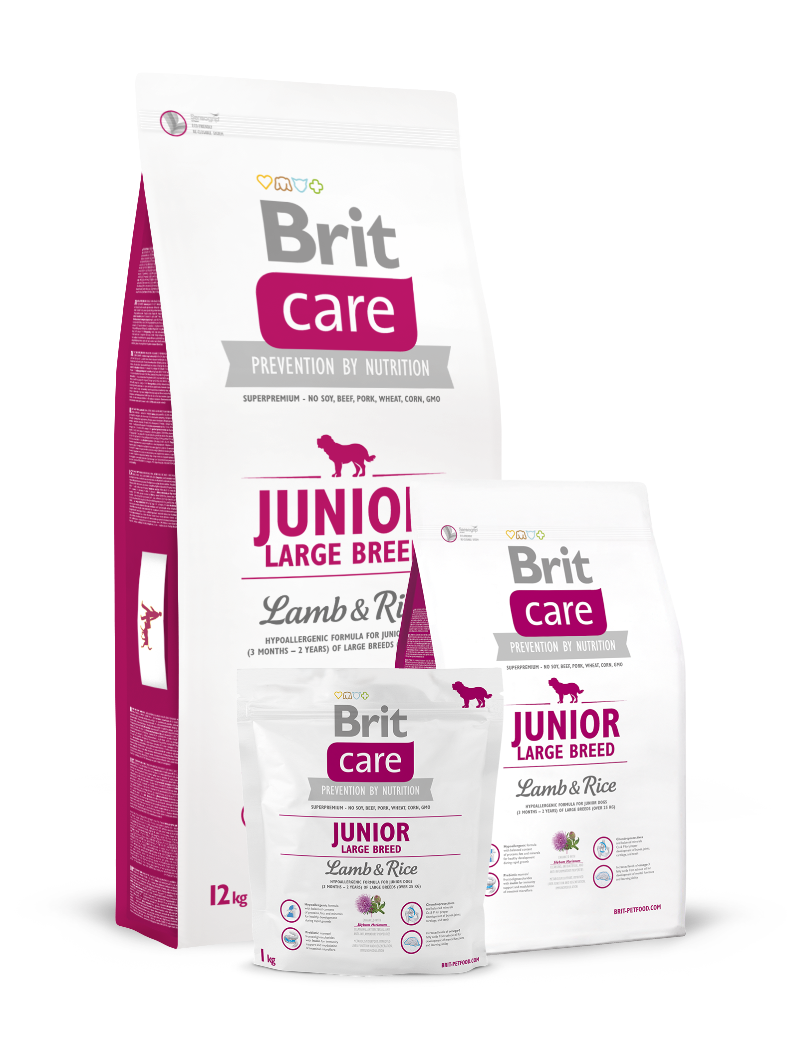Brit Care Junior Large Breed Lamb & Rice - od 1kg