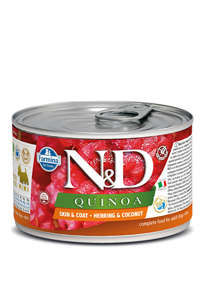 N&D DOG QUINOA Adult Herring & Coconut Mini 140g