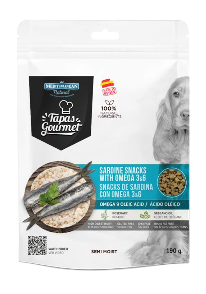 Tapas Gourmet Snack for dog Sardine with Omega 3,6